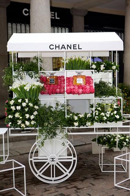 A flower cart in Covent Garden.