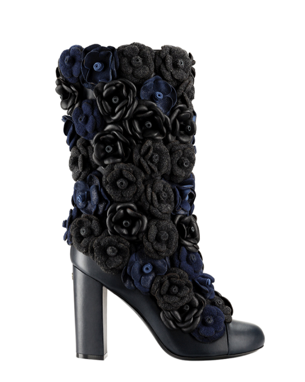 Chanel Camellia Boots