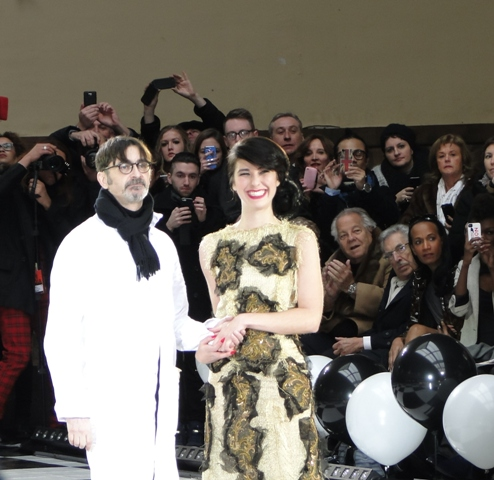 The designer with singer Kimbra