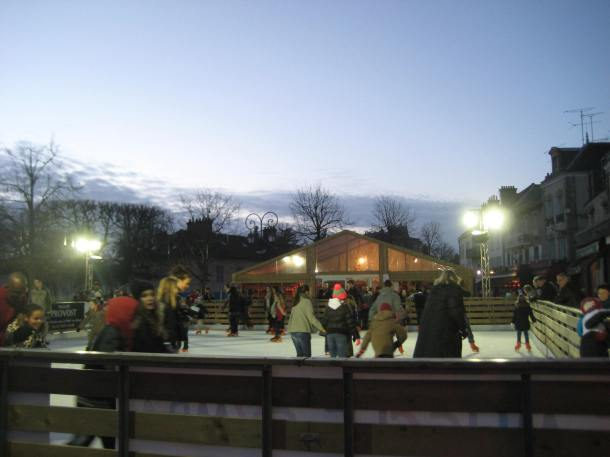 Ice skating rink in the main square