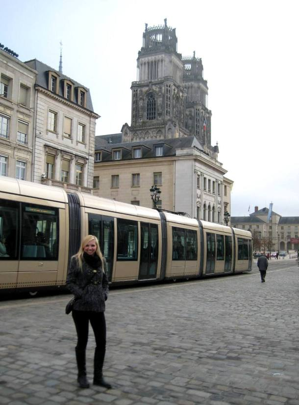 Tram outside the cathedral