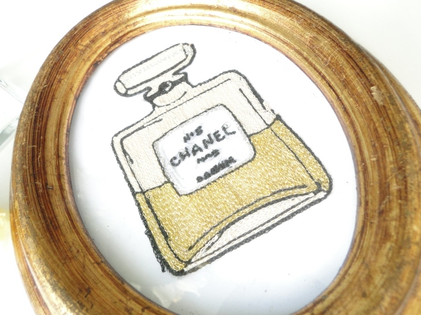 Chanel Perfume Bottle Embroidery