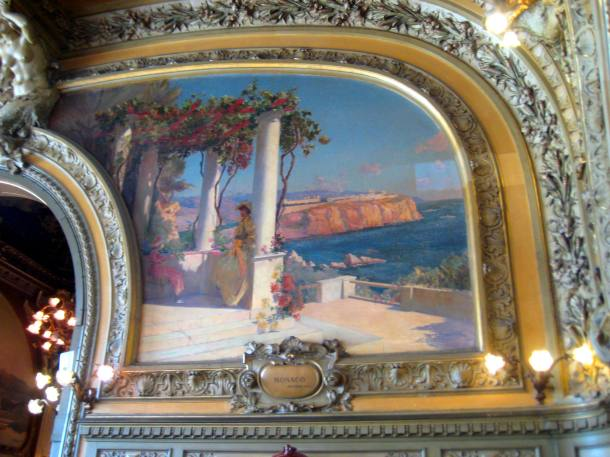 Painting in Le Train Bleu