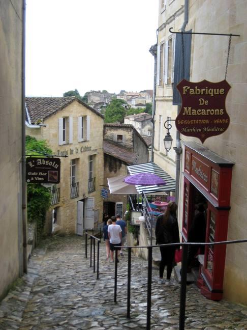 Cobblestone street in Saint-Émilion