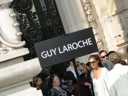 Outside the Guy Laroche Show