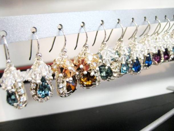 Earrings for sale in the atelier